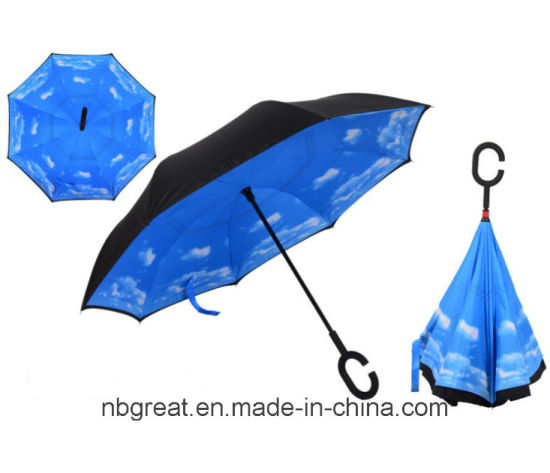 Novelty Fashionable Inverse Unbrella Keep off The Rain