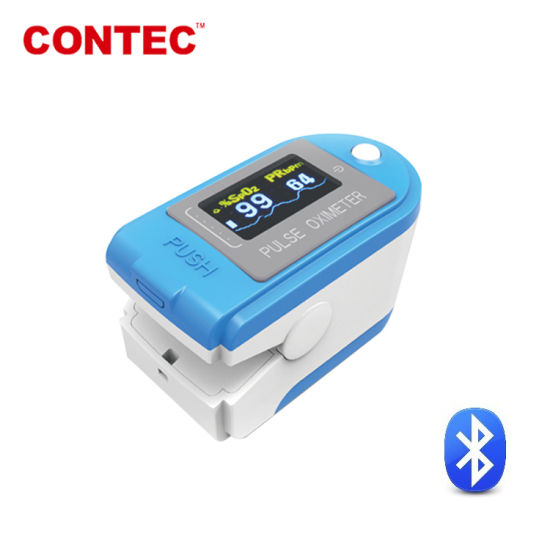 Contec Cms50d-Bt FDA Approved Telemedicine System Bluetooth Finger Pulse Oximeter