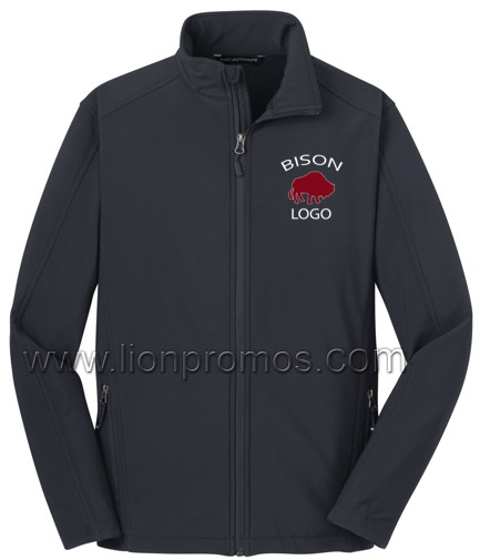 Logo Embroidery Autumn Winter Sports Soft Shell Jacket pictures & photos