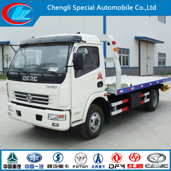 Dongfeng 4X2 Towing Capacity 6ton Road Wrecker for Hot Sale pictures & photos