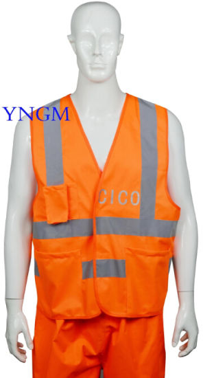 Reflective Safety Workwear/ Vest with High Visibility and Good Quality