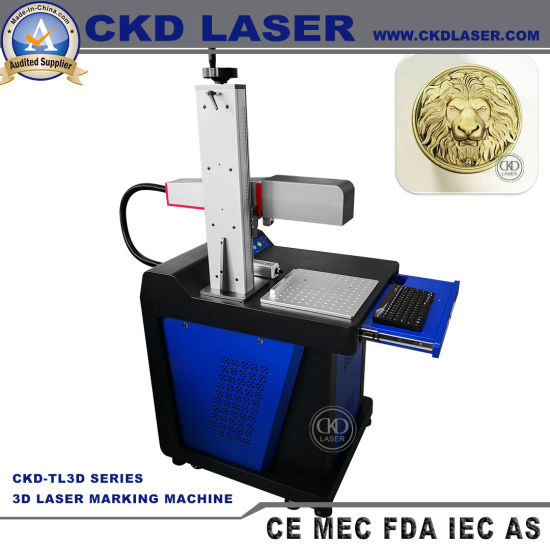 3D Laser Printing Machinery for Deeply Relief Hook Uneven Face Marking Automatically Dynamic Focusing