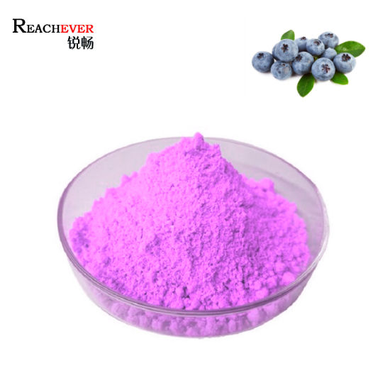 Natural Fruit Extract Powder Organic Freeze Dried Blueberry Juice Powder pictures & photos