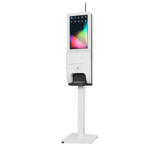 21.5 Inch Wall Mounted LCD Advertising Player and Touch Free Hand Sanitizer Dispenser