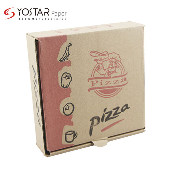 Hot Sale Corrugated Pizza Packing Paper Box with Biodegradable