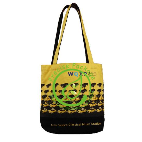 Wholesale Cheap Custom Yellow Biodegrasable Big Beach Eco Organic Cotton Canvas Tote Bag