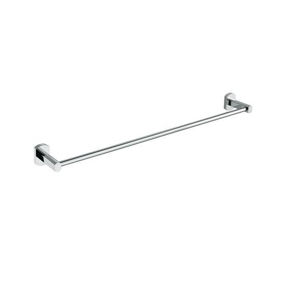 Easy Install Chrome Plate Brass Single Towel Bar for Bathroom
