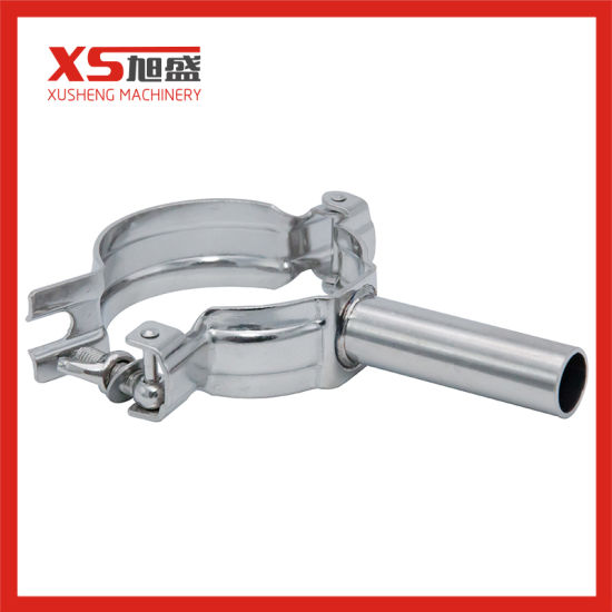 Food Grade SS304 25.4mm Stainless Steel Pipe Holder Clip with Round Bar