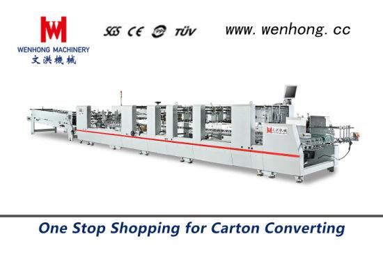 2019 Wenhong 1100W High Speed Automatic Folding Gluing Machine