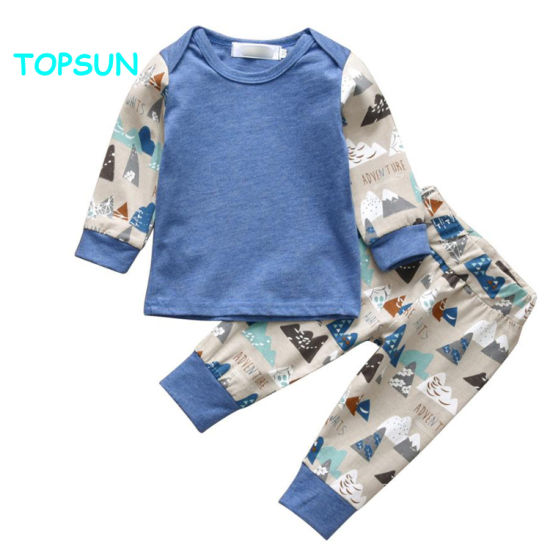High Quality 100% Cotton Cute Unisex Clothes Baby Suits with Printing