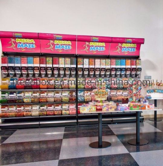 2019 Retail Adjustable Candy Divider Shelf Bulk Food Display Shelf pictures & photos