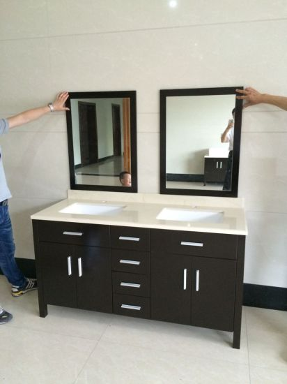 Floor Wood Bathroom Cabinet and Vanity
