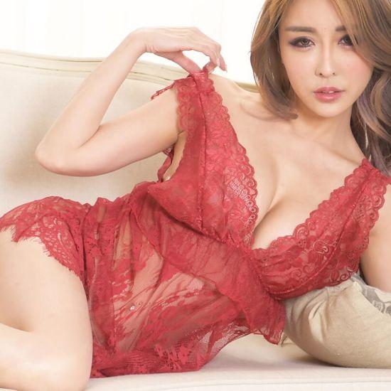 Sexy European Women Erotic Nightdress Set