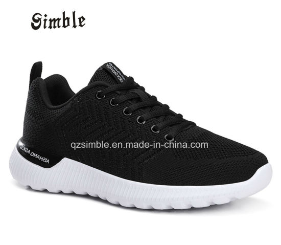 Men fashion Breable Sport Running Casual Shoes with Flyknit Upper