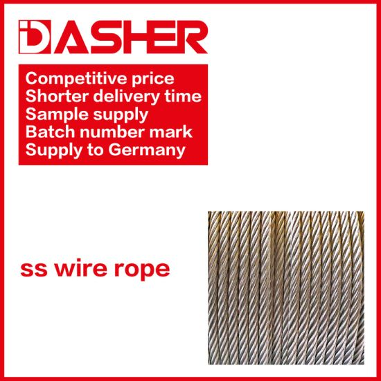 High Quality 316 Ss Stainless Steel Wire Rope pictures & photos