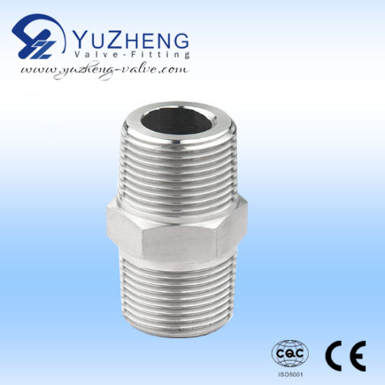 Plumbing Materials Stainless Steel Hexagon Nipple BSPT High Quality Pipe Fittings