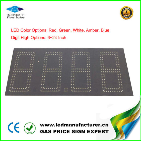 Outdoor 8 Inch Green Gas Price LED Sign Board