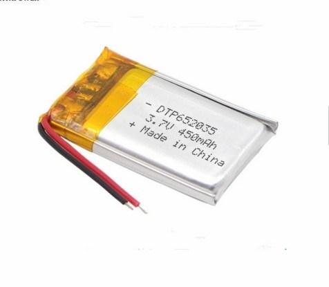 3.7V Dtp652035 450mAh Li-ion Polymer Battery for Smart Watch