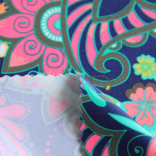 High Quality Nylon Spandex Screen Print Swimwear Fabric for Bikini/Kids Swimsuit