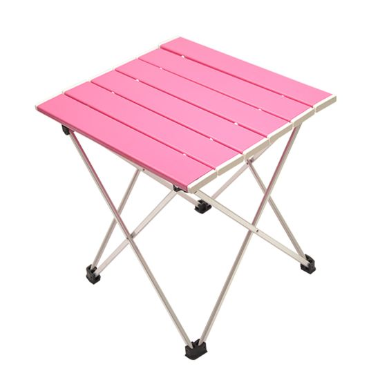 Custom Outdoor Picnic Portable Foldable Folding Fishing Aluminum Camping Table