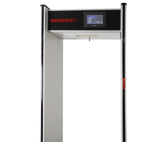 Non Contact Body Temperature Scanner Metal Detector Gate