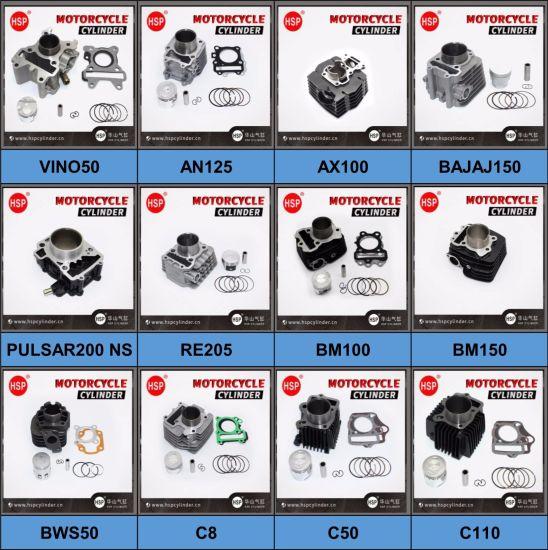 High Quality Honda SUZUKI YAMAHA BAJAJ TVS HERO PIAGGIO Motorcycle Engine Spare Part Cylinder Block Kit for Scooter 50 70 90 100 110 125 150 175 200 250 300 cc