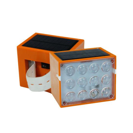 Solar LED Traffic Cone Safety Light Warning Light Flash Emergency Light