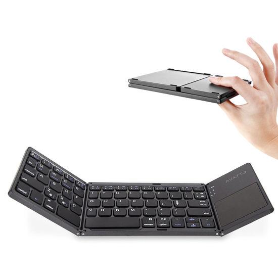 Lightweight and Convenient Bluetooth 3.0 Folding Keyboard Phone Foldable BT Wireless Keyboard Laptop Gaming Keyboard,White EASON Bluetooth Keyboard