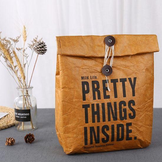 Custom Hot Sale Promotion Eco Custom Logo Print Recycle DuPont Tyvek Paper Lunch Bag
