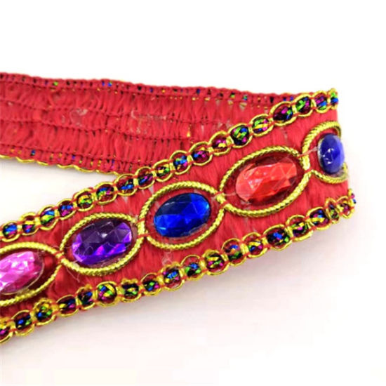 Wholesale High Quality National Lace with Beads for Garments