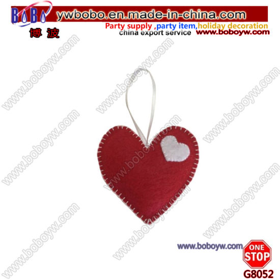 Valentine Felt Hanging Hear Oranment for Valentine Decoraiton Best Wedding Gifts (G8052)
