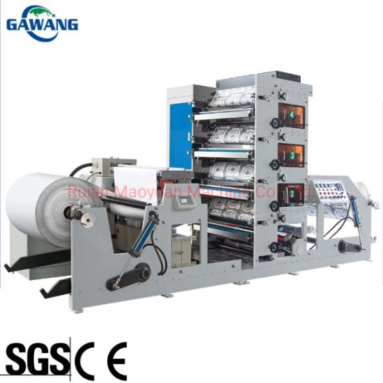 Non Drying Adhesive Paper Straw Coffee Paper Cup Paper Cup Rolling Printing Die Cutting Machine  with Slitting Made in China