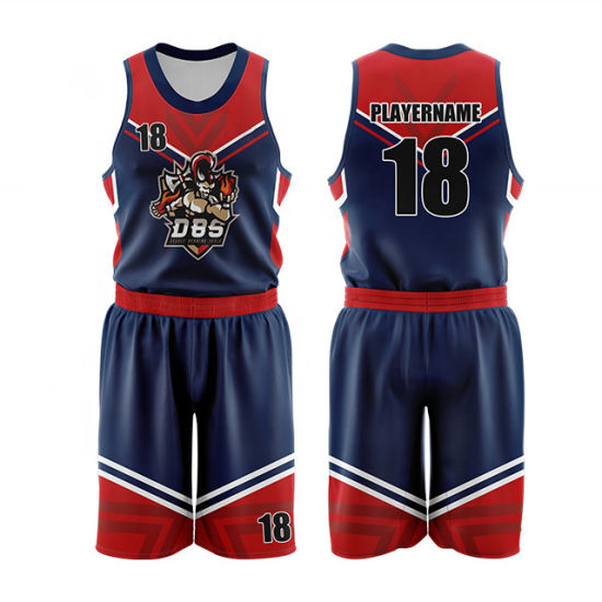 Sublimation Digital Printing Custom Basketball Jersey Uniform Design