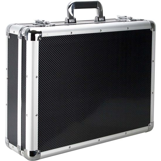Fast Delivery Universal OEM Carrying Leather Suitcase with Compartments/ Foam Inside