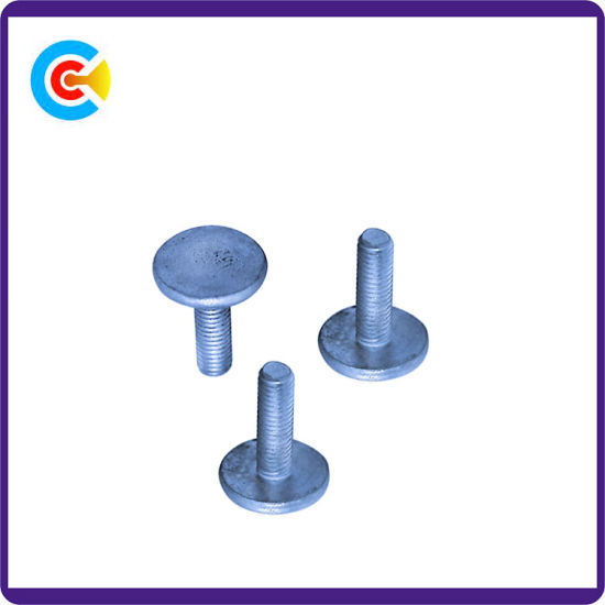 DIN/ANSI/BS/JIS Carbon-Steel/Stainless-Steel Non-Standard Flat Head  Hand-Twist for Machine/Building Car/Bridge