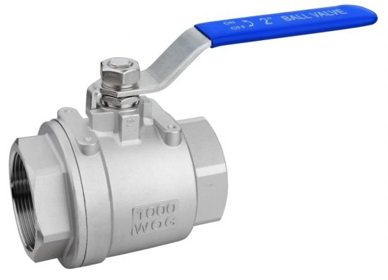 Industrial/Gas 1000wog Stainless Steel 2PC Thread Control Ball Valve