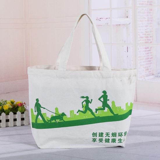 Customize Wholesale Cheap Printing Shopping Book Cotton Shoulder Zipper Messenger Organic Canvas Tote Bag