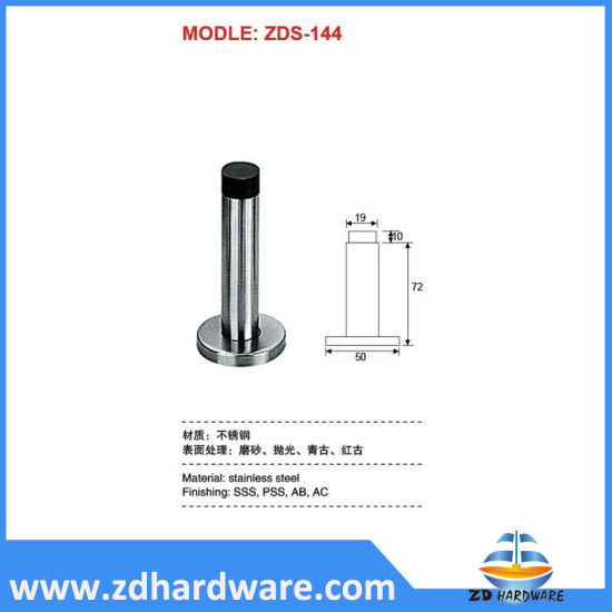 Door Stoppers Stainless Steel Rubber Accessories Holder Stops Furniture Fittings Hardware