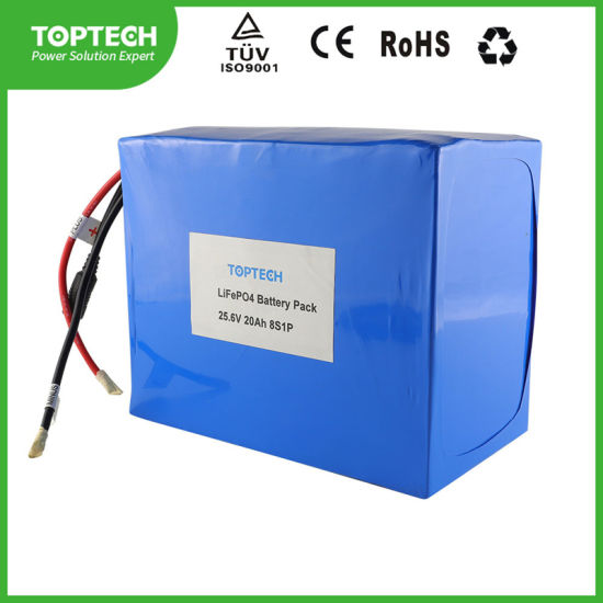 Storage Battery 25.6V 20.0ah Cylindrical Rechargeable LiFePO4 Lithium Ion Battery Pack