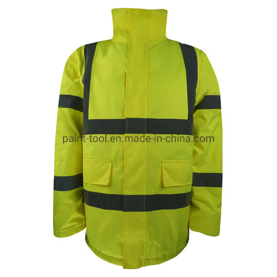 Anti-Static Windproof Reflective Jacket Rainwear Safety Workwear in Construction