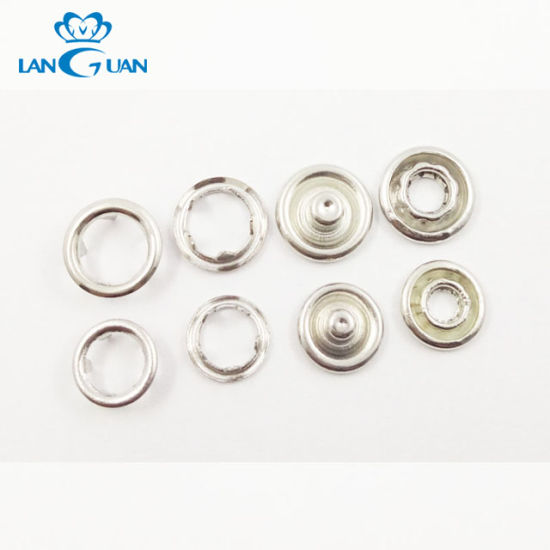 Metal Prong Copper Iron Prong Ring Snap Button for Garment
