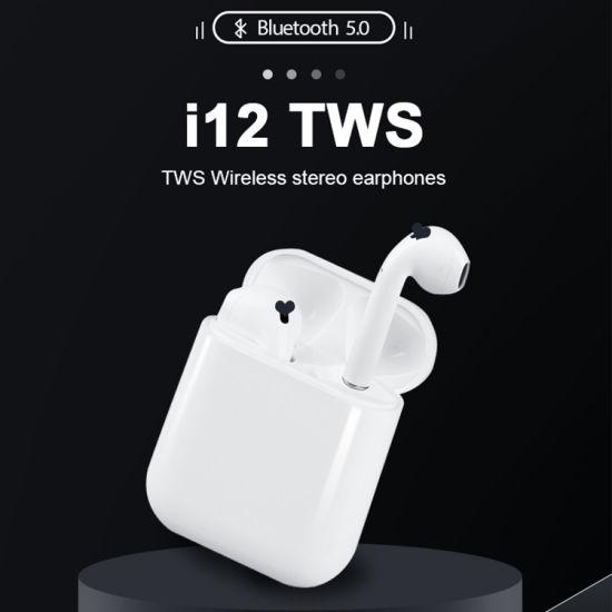 Hot Sale I 12 Tws Earphone Bluetooth Headset Wireless Earpods Headphones Wireless Earbuds Earphone