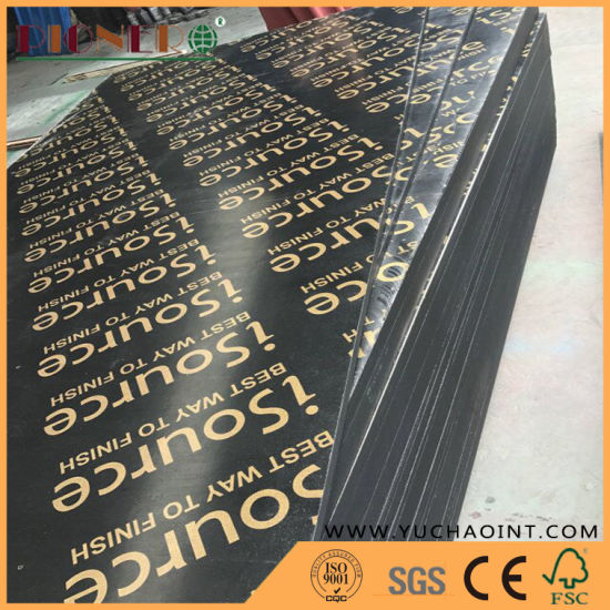 Good Quality Hardwood Core 18mm Marine Plywood Shuttering Plywood Film Faced Plywood for Construction