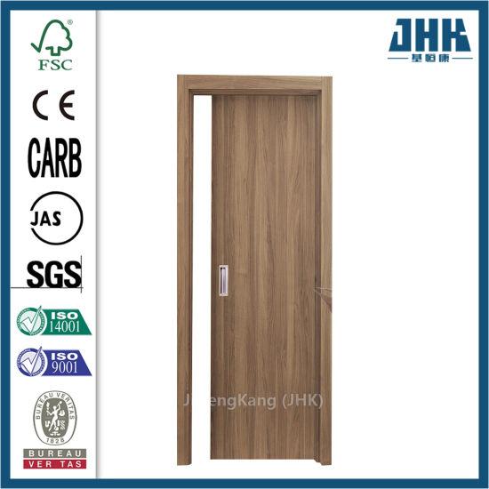 HDF/MDF Veneer Moulded Wooden Plywood Flush Door (JHK-F01)