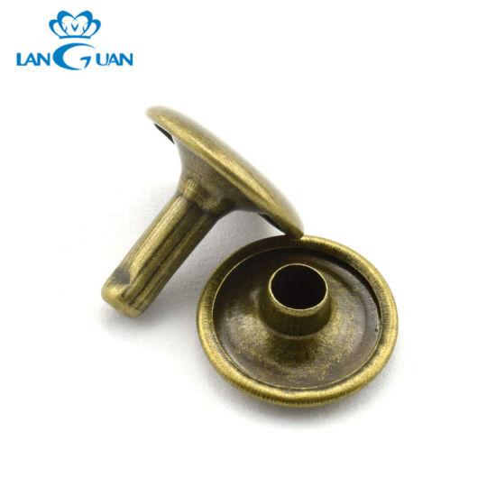Concave Metal Brass Push Leather Rivet