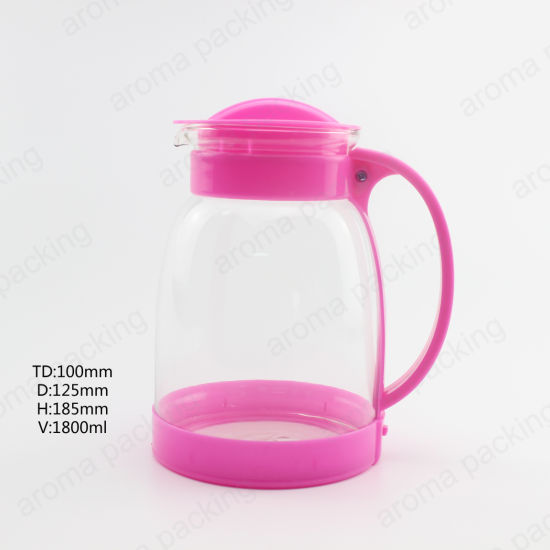 Wholesale Color 1800ml Coffee Tea Sets Glass Teapot with Handle for Home