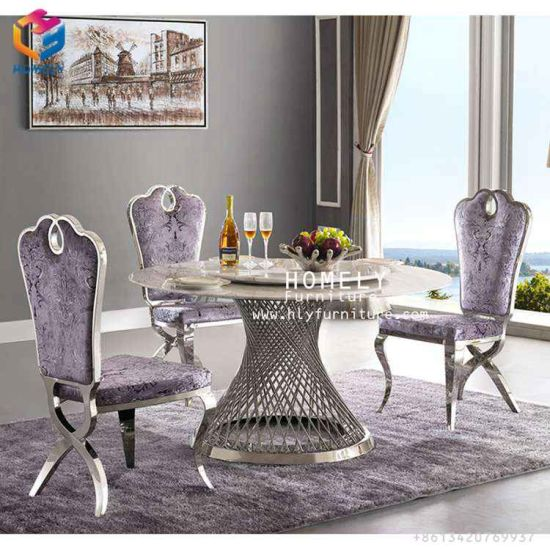 Homely Furniture European Events Gold Stainless Steel Leg Glass Tabels for Weddings pictures & photos