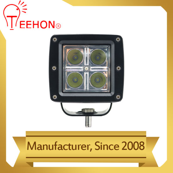 12W Amber Cover Square LED Work Light Lamp