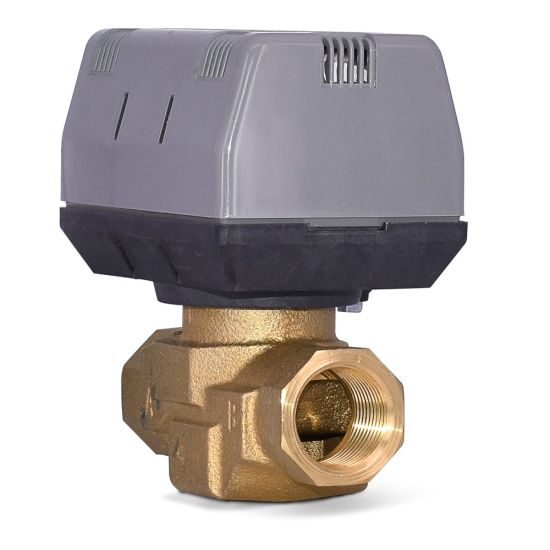 Electric Water Brass Fan Coil Unit Water Motorized Valve pictures & photos