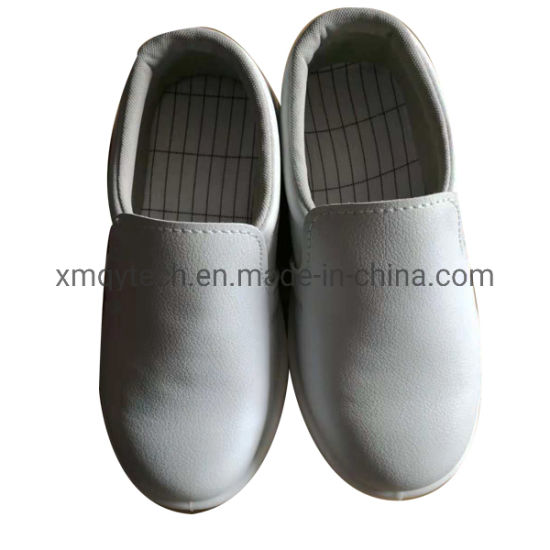 White Flat Sole Anti Static Clean Room ESD Shoes